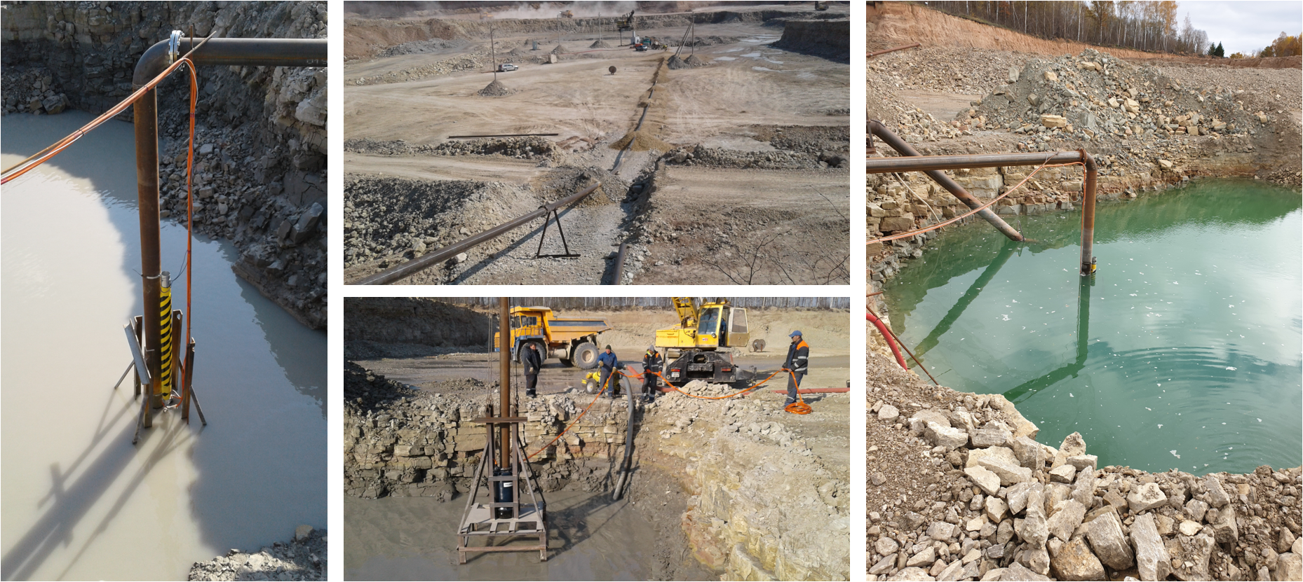 Heavy duty submersible pump in stone-quarry near Vilnius | PRORIL Pumps Europe